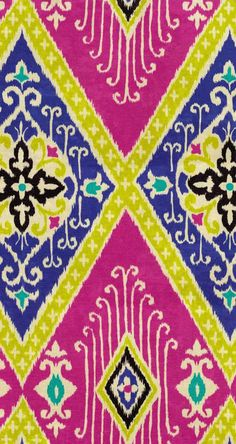 Home Decor Print Fabric- IMAN Ikat Diamond Jewel, , hi-res