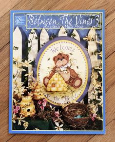 Between the Vines 3 Tole Painting Craft Book - retro craftbook, country craft, how to book, folk art, painting patterns, americana art