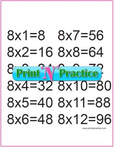 Fun multiplication worksheets to print or file. PDF worksheets, flash cards, charts, and videos. Free Multiplication Worksheets, Teaching Multiplication, Teaching Math, Math For Kids, Fun Math, Math Activities, Math Flash Cards, Math Drills, Math Tutor