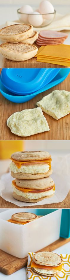 """You'll save time and the added hassle of trying to decide, """"What's for breakfast?"""" by prepping Freezer Breakfast Sandwiches ahead of time."""
