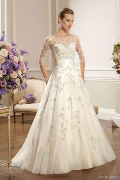 ronald joyce 2013 wedding dress with sleeves