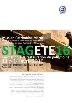 MISSION PATRIMOINE - Maroc 2016 Ecole Nationale d'Architecture de Marrakech