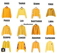 I look good in yellow Zodiac Signs Chart, Zodiac Signs Sagittarius, Zodiac Star Signs, Horoscope Signs, Zodiac Horoscope, Astrology Signs, Taurus, Le Zodiac, Zodiac Clothes