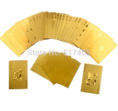 Luxo 24 K ouro de Poker jogando cartas de Baralho Carta de Baralho com caixa bom presente em Cartões para jogo de Esporte e Lazer no AliExpress.com | Alibaba Group
