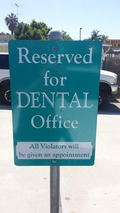 Restrictive signs can be humourous