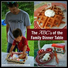Connecting Family and Seoul: The ABC's of the Family Dinner Table ~ Creative, simple ways to connect with your family before, during, and after dinner!