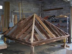 PALLADIO'S ESCAPE COTTAGE roof framed