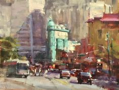 Oil painting art videos on how to paint cityscapes and street scenes, with architecture in the landscape from Randall Sexton, an acclaimed artist and workshop teacher. Project Abstract, Drawing Challenge, Abstract Shapes, Art Sketchbook, Urban Art, Art Lessons, Watercolor Art, Pop Art, Art Projects