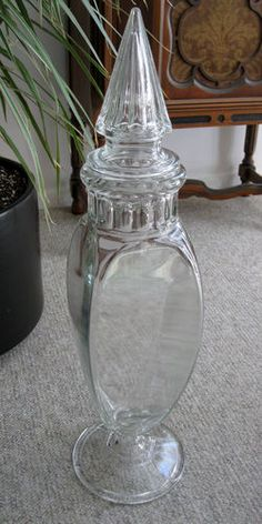 Huge 26 Inch Tall Apothecary Jar Vintage Candy Ebay