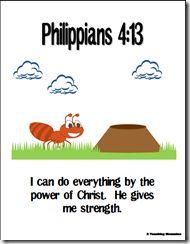 Memory Verse Helps-Philippians 4:13