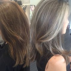 Image result for grey hair highlights