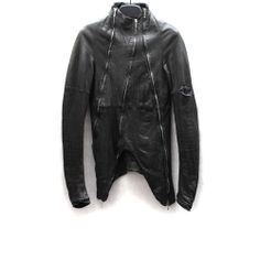 OBSCUR SS11 TRIPLE ZIPPER LAMB LEATHER JACKET