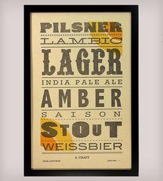 A Craft Beer Poster, Epicurean Broadside