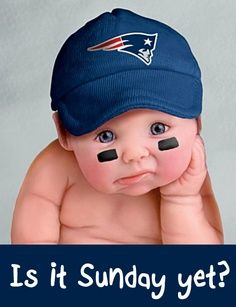 I feel like this is how Tom was as a baby but w a bronco hat!