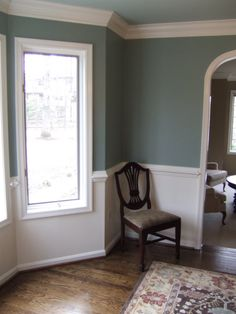 Two Tone Paint Jobs On Walls Two Toned Walls On Pinterest  Home New Dining Room Colors With Chair Rail Review