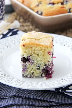 Blueberry Buttermilk Breakfast Cake - A Pretty Life In The Suburbs
