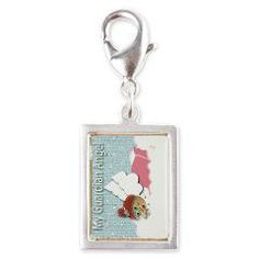 Raggedy Isabella Guardian An Silver Portrait Charm> Raggedy Isabella> Angelic Inspirations  J.L. Designs