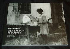 Lisa Larson - Keramiker Ceramic designer PAPERBACK BOOK Gustavsberg Pottery