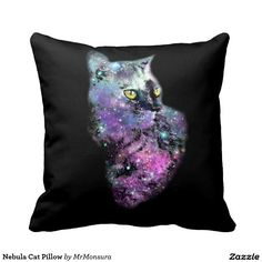 Nebula Cat Pillow Galaxy Space Kitten Cool Stars Starry Supernova
