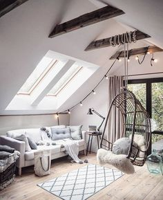 6 Elegant Clever Tips: Attic Storage Plans attic renovation tips.Attic Design Hallways finished attic on a budget.Attic Renovation Tips. Attic Renovation, Attic Remodel, Deco Design, Design Design, Dream Rooms, New Room, House Rooms, Attic House, Cozy House
