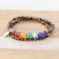 Chakra Jewelry, Chakra Bracelet, Gemstone Jewelry, Tiger Eye Jewelry, Tiger Eye Bracelet, Stretch Bracelets, Beaded Bracelets, Solar Plexus Chakra, Chakra Stones