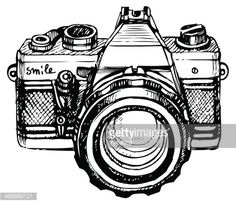 vintage camera drawing - Google zoeken