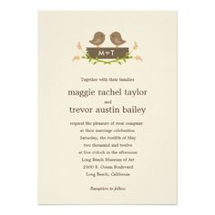 Sweet Love Wedding Invitation Cards