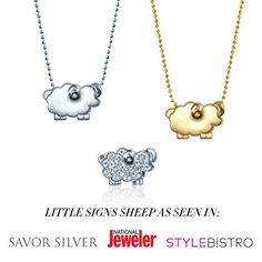 Excited to see our Little Sheep has been been making the rounds this #LunarNewYear, but who's counting? Thanks to #SavorSilver, #StyleBistro, and #NationalJeweler #alexwoo #littleicons #sheep #chinesenewyear #lovegold #savorsilver