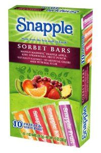 Dye-free snapple Sorbet Freezer Pops, 10-Count (Pack of 12): Amazon.com: Grocery & Gourmet Food