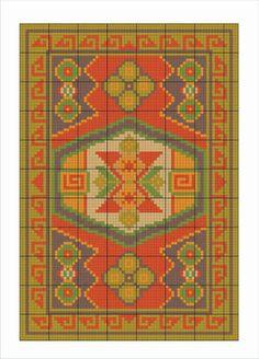Resultado de imagem para graficos de desenhos kilim para bordar em casa caiada