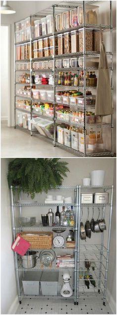 Momocca, firma de mobiliario de diseño singular y sofisticado. Pantry Organisation, Pantry Storage, Kitchen Organization, Kitchen Storage, Organizing, Kitchen Shelves, Kitchen Pantry, New Kitchen, Kitchen Dining