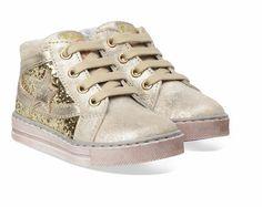 Bronzen/Gouden Naturino kinderschoenen Falcotto Ray boots