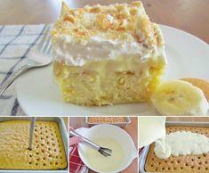 DIY Banana Pudding Poke Cake