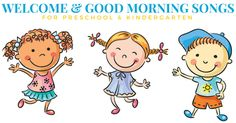 Start the day off right with these good morning songs and welcome songs for circle time! They are perfect for getting children excited about what's next! Hello Songs Preschool, Preschool Speech Therapy, Kindergarten Songs, Morning Meeting Songs, Good Morning Song, Good Morning Friends, Morning Activities, Math Activities, Welcome Songs