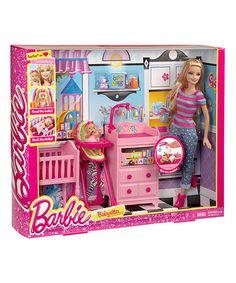 Look at this #zulilyfind! Barbie I Can Be Babysitter Doll & Play Set #zulilyfinds
