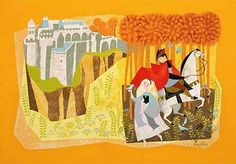 Mary Blair: sleeping beauty concept art