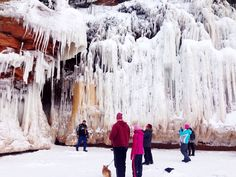 Ice caves. Apostle Islands, Lake Superior. Near Bayfield, Wisconsin.