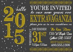 Printable New Years Party Invitation / by RiverMamasDesigns
