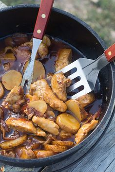 BBQ Chicken and Potatoes