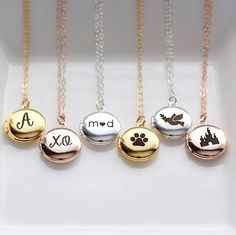 Today is the last day for 20% off your entire purchase, use code BACKTOSCHOOL at checkout. These are our engraved mini lockets, choose a word, letter, or symbol and the inside is engravable too!