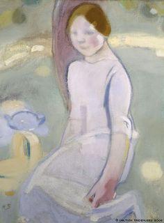 Helene Schjerfbeck, 'Under the Linden', 1911