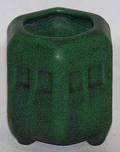 Weller Pottery, matte green, architectural vase