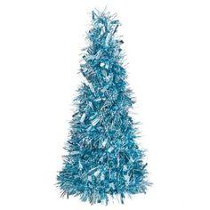 Ice Blue Tinsel Tree