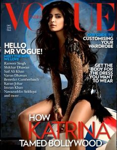 #Hot #katrinaKaif on the cover of #Vogue's #December issue