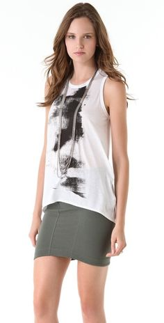 HELMUT Printed Tank. http://fashionlovestruck.com/nyc-chic/#