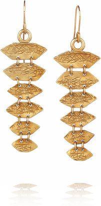 Yves Saint LaurentBlack Mamba gold-plated drop earrings