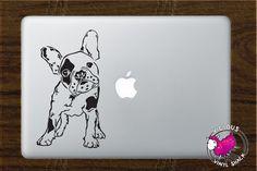 French Bulldog Sketch Silhouette Vinyl Decal by ViciousVinyl Puppy Dog