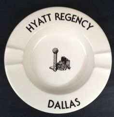 Ashtray Vintage Hyatt Regency Hotel Dallas by LetTheRiverFlow
