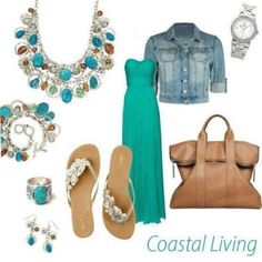 Perfect with a little less jewelry! Coastal breeze fashion board.
