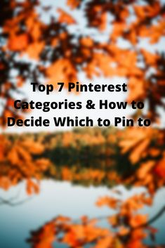 The Top 7 Pinterest Categories & How to Decide Which to Pin to